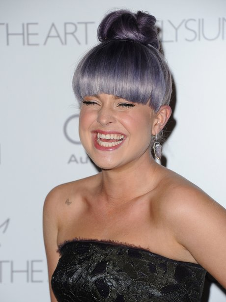 Kelly Osbourne wearing a top knot