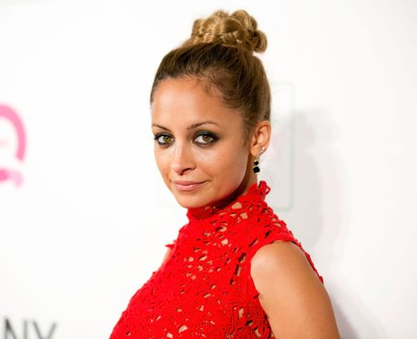 Nicole Richie wearing a top knot