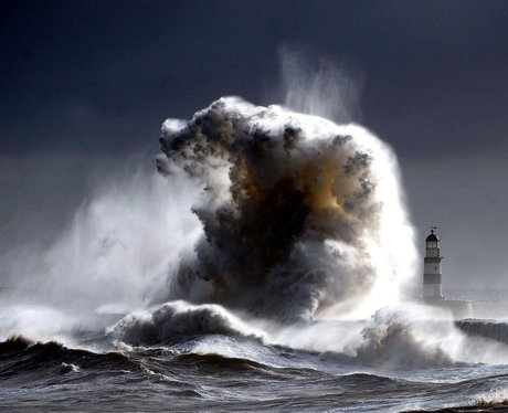 Gale force winds at Seaham Harbour