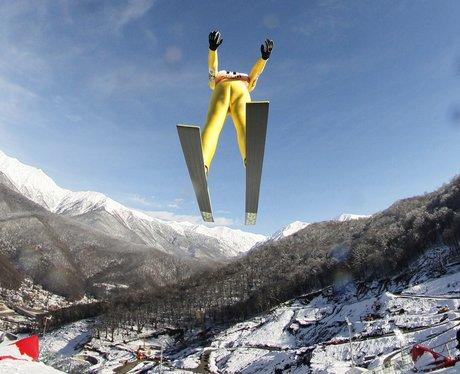 Ski jumper in Russia