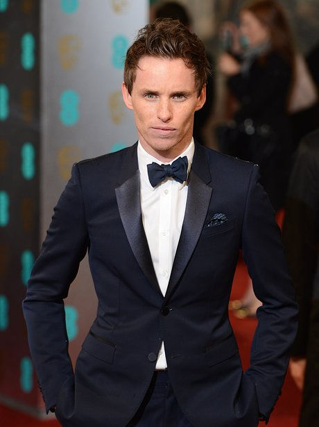 Eddie Redmayne with red hair