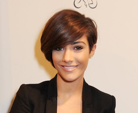 Frankie Sandford with brown cropped hair