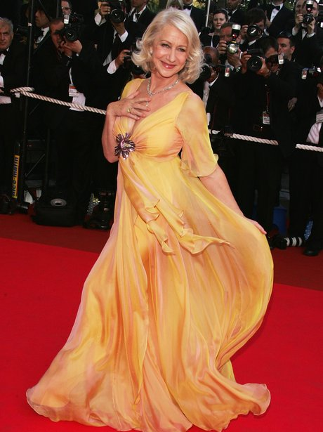 Helen Mirren on the red carpet