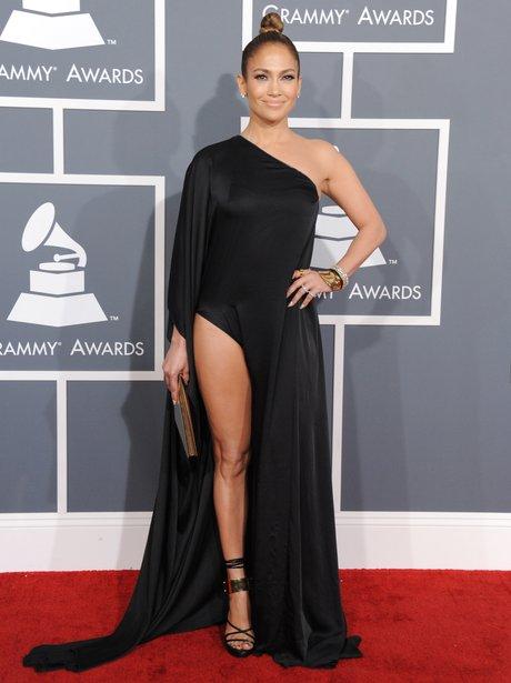 Jennifer Lopez arrives at the Grammy Awards 2013
