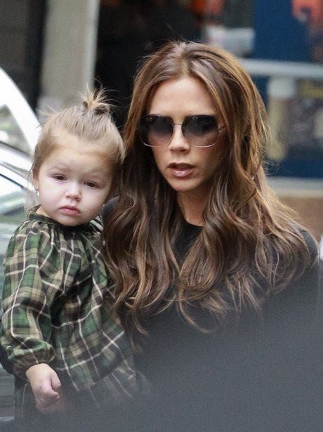 Victoria Beckham and Harper February 2013