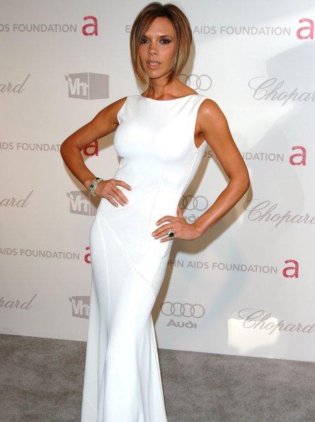robe de star blanche Victoria Beckham