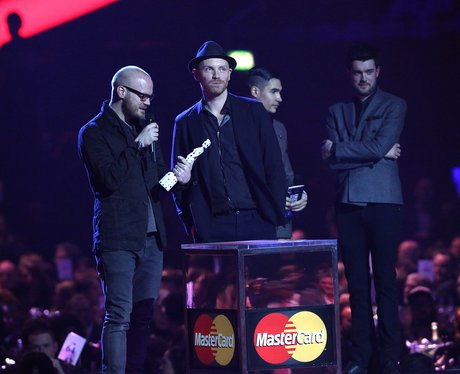Coldplay BRIT Awards 2013 On Stage
