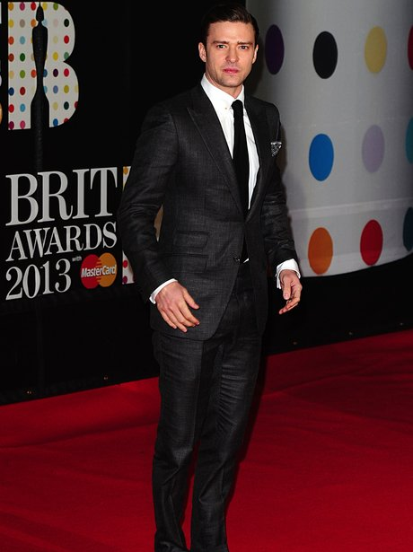 Justin timberlake brit awards 2013 best and worst dressed heart justin timberlake arriving for the 2013 brit award voltagebd Images