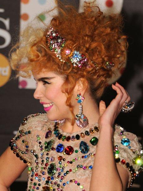 Paloma Faith at the BRIT Awards 2013