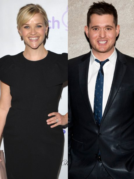Reese Witherspoon and Michael Buble duet