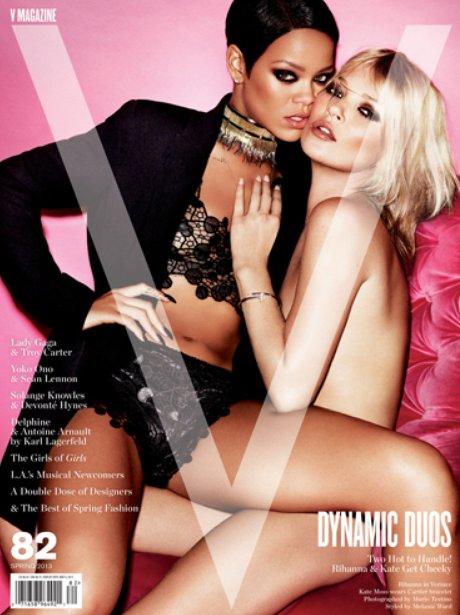 Rihanna and Kate Moss cover V Magazine