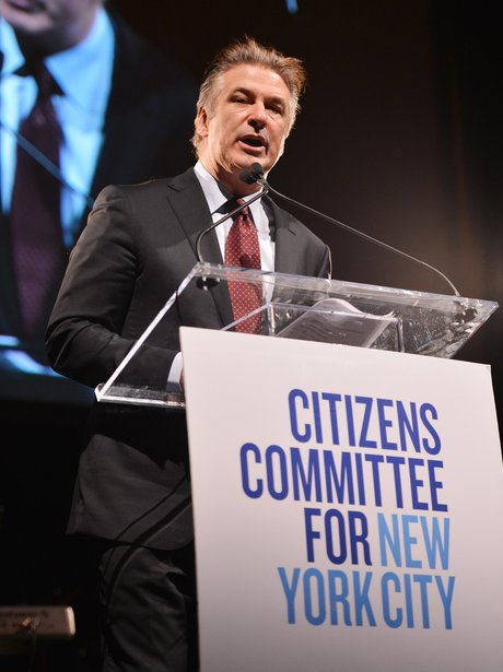 Alec Baldwin speaks in New York
