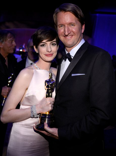 Anne Hathaway and Tom Hooper at the Oscars 2013 Go
