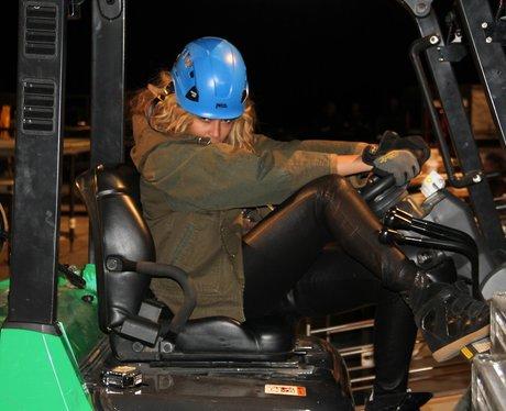 Beyonce wearing a hard hat