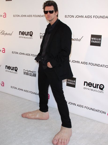 Jim Carrey Elton John AIDS Foundation Oscars Party