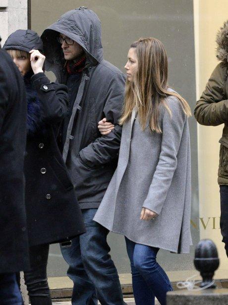 Justin Timberlake and Jessica Biel  in Paris