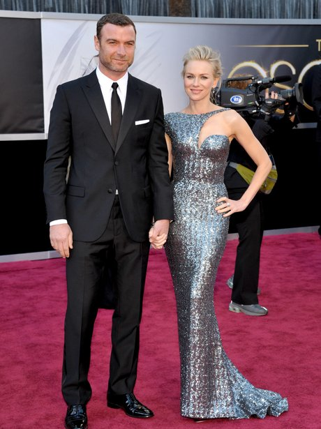 Liev Schreiber and Naomi Watts at the Oscars 2013