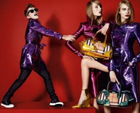 Romeo Beckham models purple suit for Burberry