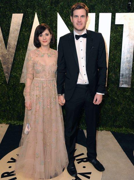Zooey Deschanel and Jamie Linden at the Vanity Fai