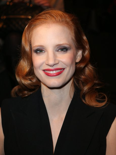 Jessica Chastain on the front row