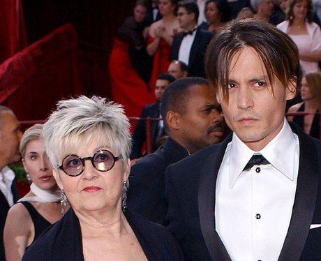 Johnny Depp and his mum