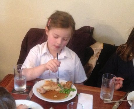 School Dinners At Local Pub