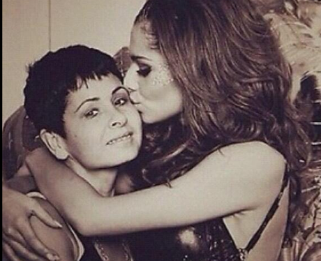 Cheryl Cole with her mum