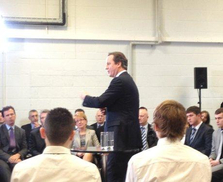 David Cameron In Milton Keynes