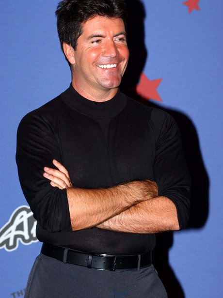 Simon Cowell in high-waisted trousers