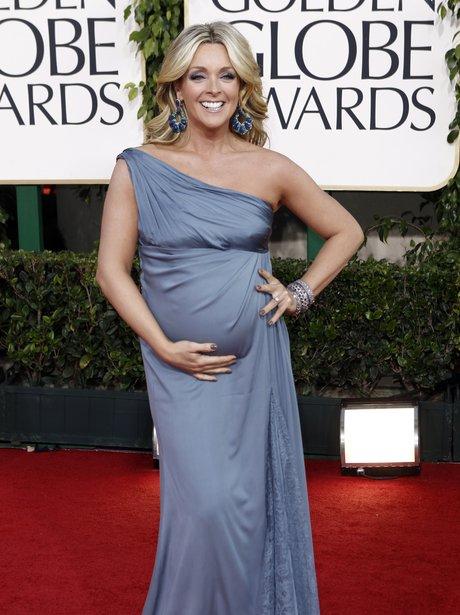 pregnant jane krakowski at the golden globes