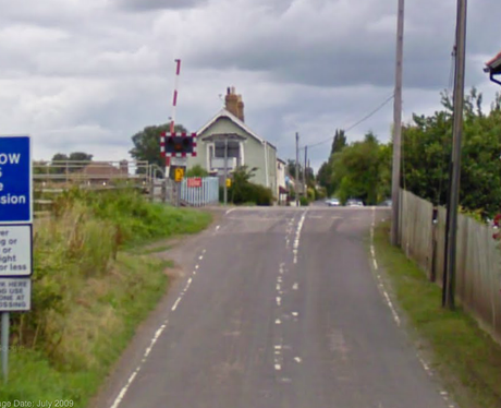 Train Hits A Car in Somerset