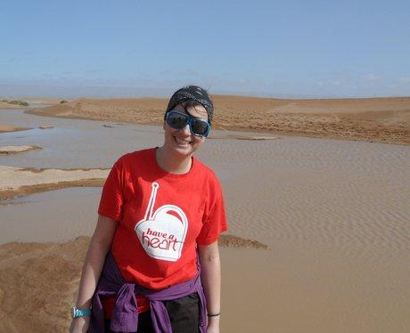 Have a Heart trekker in the desert