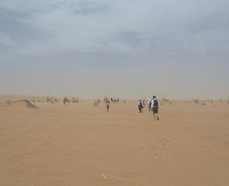 Trekking across the desert