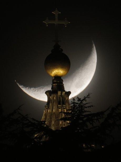Half moon at the Vatican