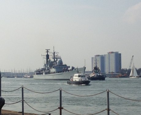 HMS Edinburgh homecoming