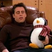 Image 4: Joey and a stuffed toy penguin