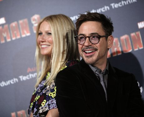 Gwyneth Paltrow Robert Downey Jr Iron Man 3 premie