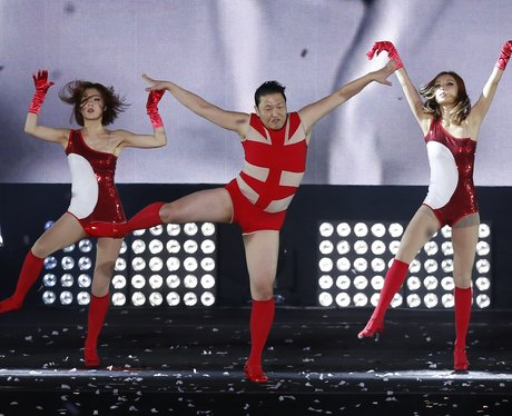 PSY on stage
