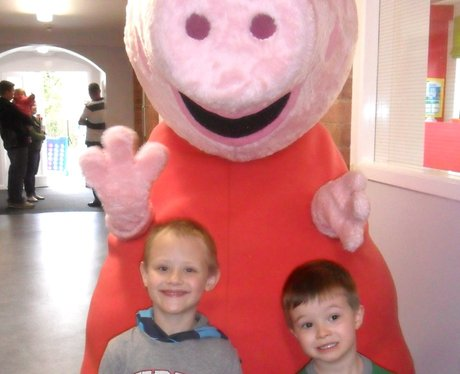 Peppa Pig visits Caring Kindergarten in Duston