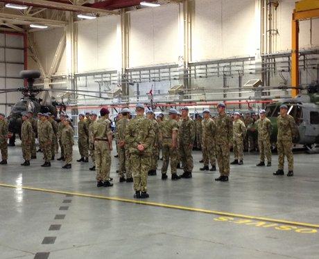Prince Charles meets troops at Wattisham