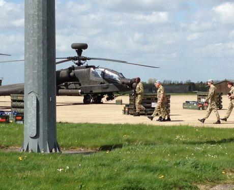 Prince Charles arrives at Wattisham, Suffolk