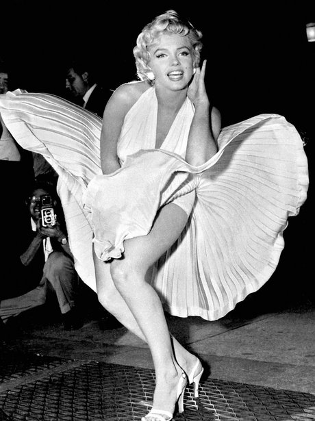 marilyn monroe in the 'Seven Year Itch' white dress