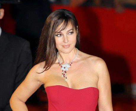 Monica Bellucci in a red dress