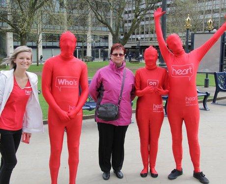 Who's on Heart Morph suit Tour of Birmingham