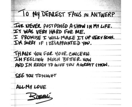 Beyonce apology letter to fans
