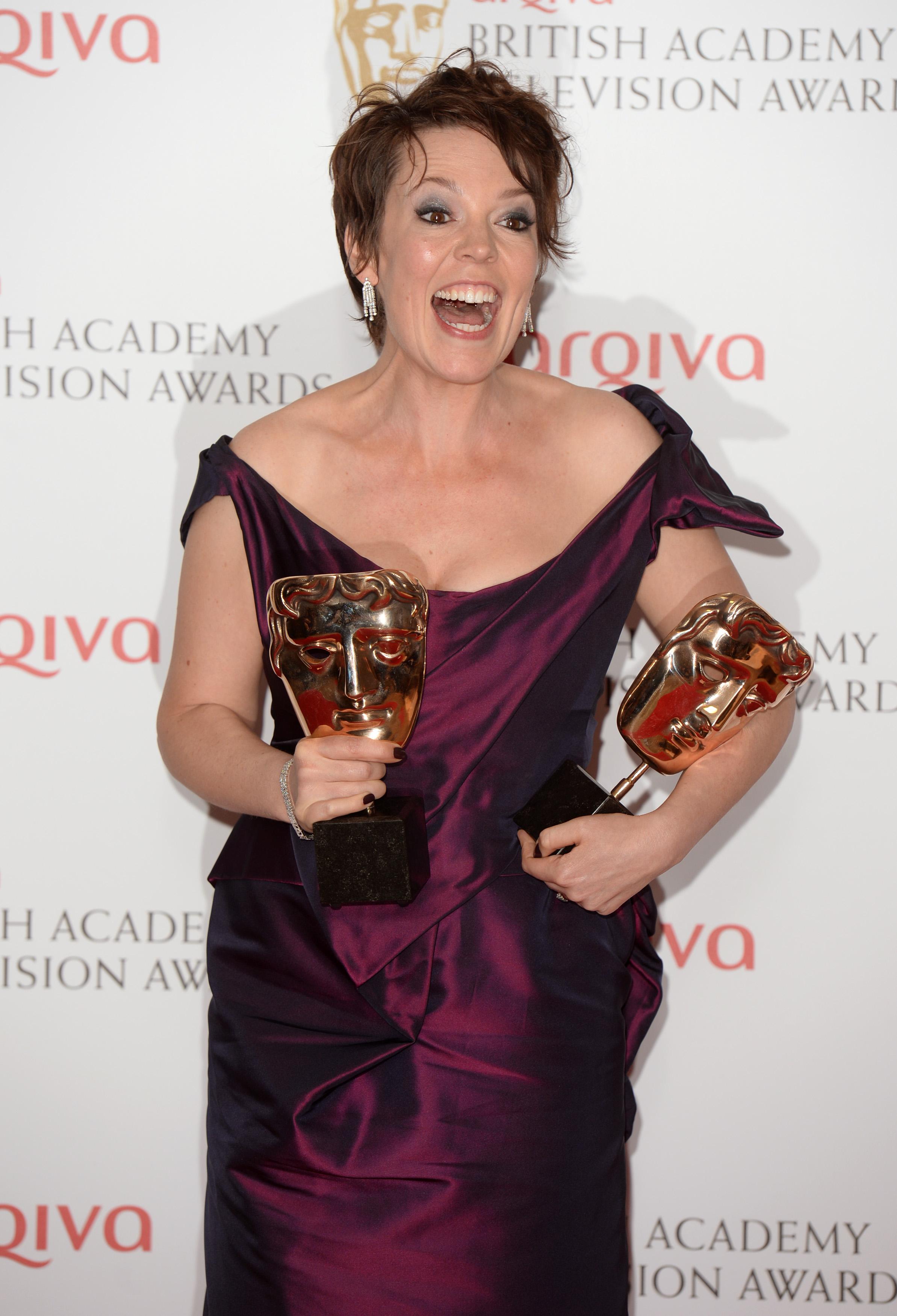 Olivia Colman TV BAFTAs 2013