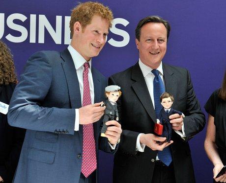 Prince Harry and David Cameron