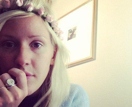 Ellie Gulding with flowers