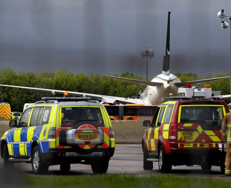 Typhoon escorts plane into Stansted
