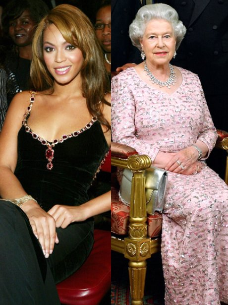 Beyonce and The Queen
